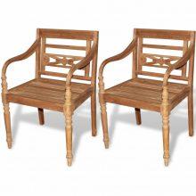 VID 2db tíkfa Batavia kerti szék