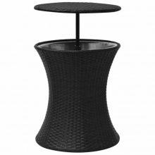 VID 2 az 1-ben asztal/italhűtő fekete színben