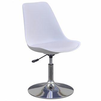 VID 4 db-os állítható magasságú étkezőszék/bárszék szett fehér színben