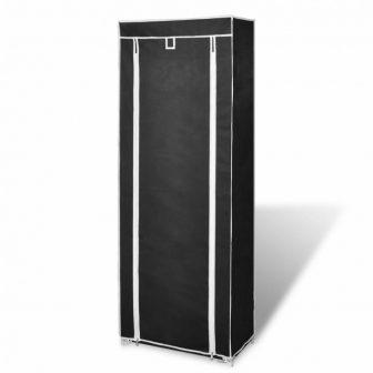 VID Szövet cipő szekrény 57 x 29 x 162 cm-es fekete