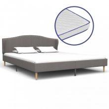 VID világosszürke szövetágy memóriahabos matraccal 180x200 cm