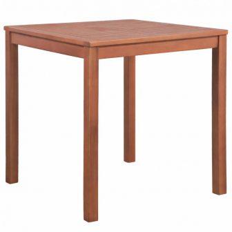 VID négyzet alakú tömör akácfa kerti étkezőasztal 80 x 80 x 74 cm