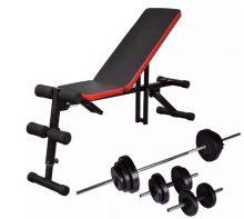 VID állítható haspad egykezes és kétkezes súlyzókészlettel 30,5 kg
