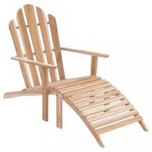 VID tíkfa Adirondack szék lábtartóval