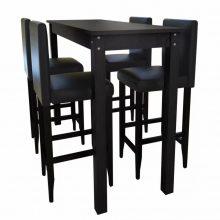 VID Klasszikus bár szett 4 db székkel [115 x 55 x 107 cm asztallal]