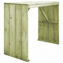 VID impregnált fenyőfa bárasztal 130 x 60 x 110 cm