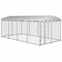 VID kültéri kutyakennel tetővel 8 x 4 x 2 m