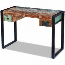 Fémvázas újrahasznosított fa asztal