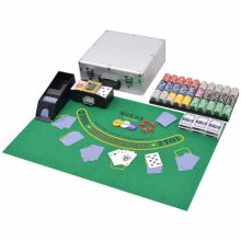 VID Póker/black jack készlet 600 lézeres alumíniumzsetonnal
