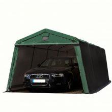 Ponyvagarázs/ sátorgarázs / tároló zöld színben- 3,3x6,2m -PVC 500g/nm