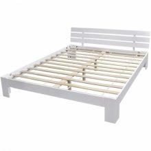 """Fa ágy 160x200 cm """"V8"""", ágyráccsal, fehér színben"""