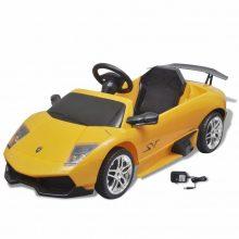 Elektromos kisautó Lamborghini sárga