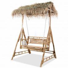 VID kétszemélyes bambusz hintaágy pálmalevelekkel 202 cm