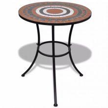 Mozaik kerti asztal 60 cm több barna-fehér színben