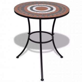 VID Mozaik kerti asztal 60 cm több barna-fehér színben