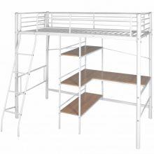 VID Gyerek fém emeletes ágy 90x200 cm fehér színben