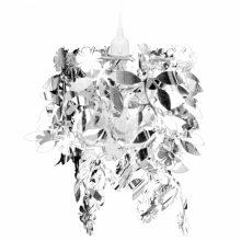 Mennyezeti lámpa Levél-Virág lapokkal ezüst színben
