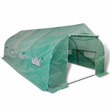 Hordozható fóliasátor zöld színben 18m2