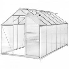 DISCONTMANIA Economy üvegház/polikarbonát melegház - 7,12 m² - alapzattal - GH79-80