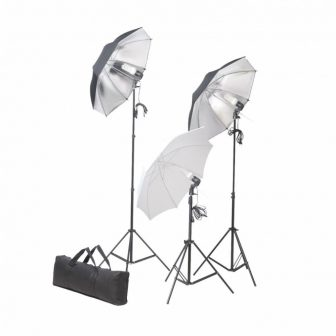 VID Stúdió felszerelés 02 Állványokkal és Ernyőkkel