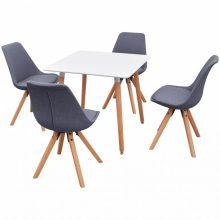 VID 5 darabos étkező szett - világosszürke székekkel