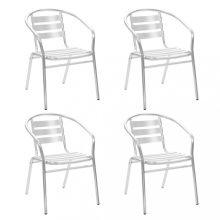 VID 4 db rakásolható alumínium kültéri szék