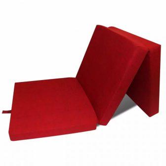 VID Összecsukható matrac 190 x 70 cm [piros színben]