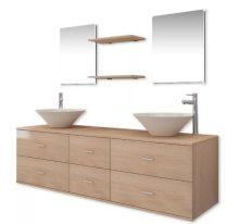 9 részes fürdőszoba bútor szett  csapteleppel, tágas szekrénnyel