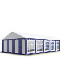 TP Professional deluxe 5x10m nehéz acélkonstrukciós rendezvénysátor erősített tetőszerkezettel kék-fehér