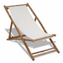 VID bambusz és vászon kerti szék