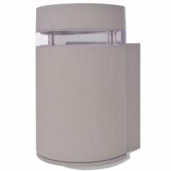 VID Kültéri szürke alumínium fali lámpatest