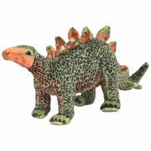 VID álló, zöld és narancssárga plüss stegosaurus XXL