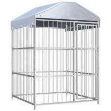 VID kültéri kutyakennel tetővel 150 x 150 x 200 cm