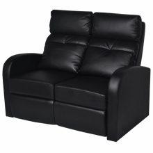 VID TV néző fotel/mozifotel - 2 személyes fekete