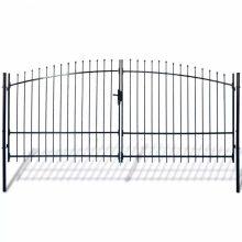 VID dupla ajtós lándzsahegy tetejű kerítéskapu 400 x 248cm