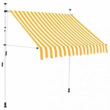 VID Manuálisan feltekerhető napellenző - 150 cm - sárga fehér csíkokkal