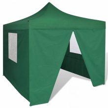 Összecsukható sátor oldalfalakkal 3X3M zöld színben