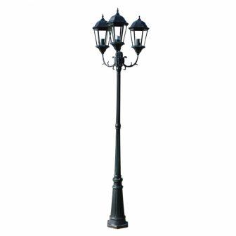 VID Kültéri Lámpa 3-Karú 230 cm Sötétzöld/fekete