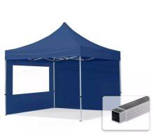 Professional összecsukható sátrak ECO 300 g/m2 ponyvával, alumínium szerkezettel, 2 oldalfallal - 3x3m sötétkék