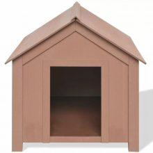 73,5x68x74cm felülről nyitható kutyaház, barna