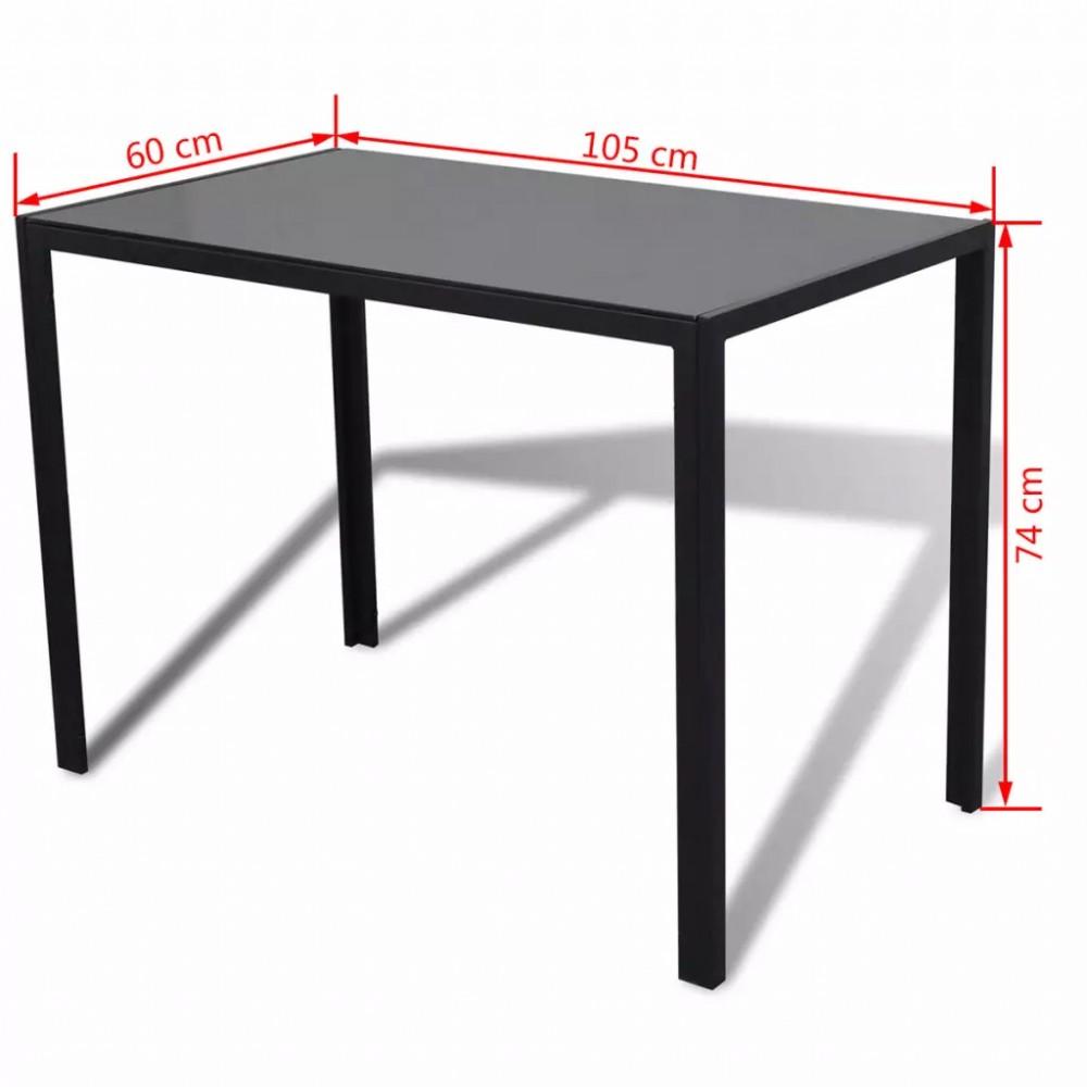 5 darabos étkező asztal szett fekete és fehér - Discontmania.hu