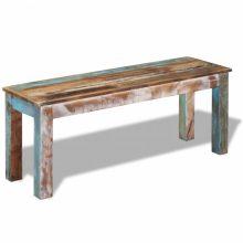 VID Tömör újrahasznosított fa pad 110x35x45 cm