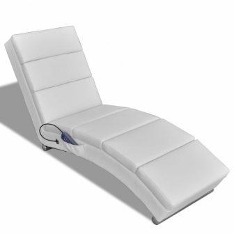 VID Funkcionális masszázsfotel/fekvőfotel fehér színben