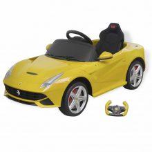 Elektromos kisautó Ferrari F12 sárga