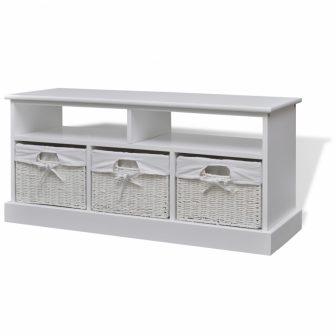 VID Fiókos modern tároló láda / pad fehér