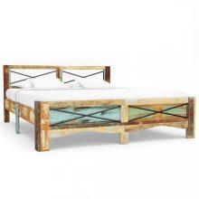 VID tömör újrahasznosított fa ágykeret 140 x 200 cm