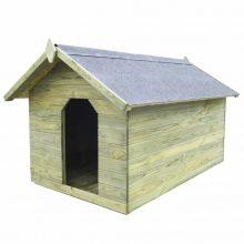 VID impregnált fenyő kerti kutyaház felnyitható tetővel 735060