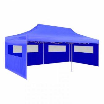 VID 3x6m összecsukható rendezvénysátor - kék