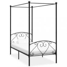 VID fekete fém baldachinos ágykeret 100x200 cm