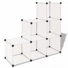 VID fehér kocka alakú tároló 6 tárolórekesszel